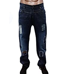 Newfacelook New Designer Fashion Jeans Denim Bleu Mens Ripped Jeans
