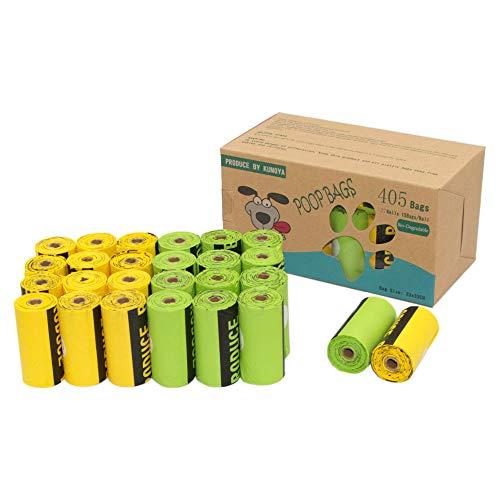 Kumoya, sacchetti biodegradabili per escrementi di cane, realizzati con amido di mais, con dispenser, extra large, super spessi, a prova di perdite