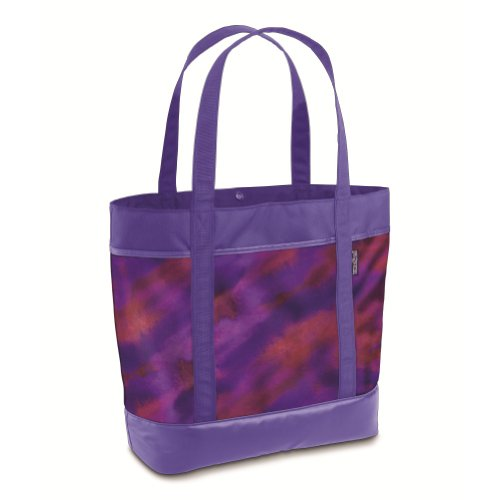 JANSPORT Schulrucksack Emma Tote, Schule Tasche, Unisex, Purple Sky/Multi Watercolor