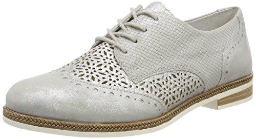 Remonte Damen D2601 Oxfords, Silber (Silber/Shark), 45 EU