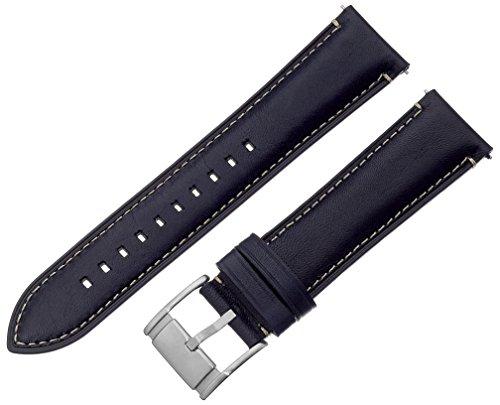 Fossil (Smartwatches) Uhrenarmband S221255 Leder Dunkelblau 22mm (NUR UHRENARMBAND - UR NICHT INBEGR