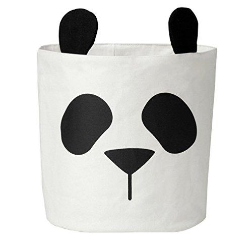 Aufbewahrungsbox Faltbar Aufbewahrungstasche Panda Aufbewahrungsbeutel Kinder Spielzeug Organizer Wäschebox Korb 31*37CM (Canvas-baumwolle-schuhbeutel)