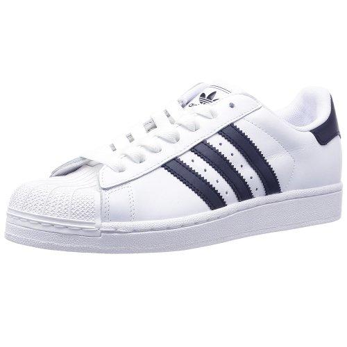 adidas , Herren Sneaker weiß Weiß/Marineblau