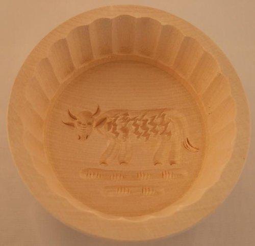 Butterform, rund, 250 Gramm, Ahorn, Kuh