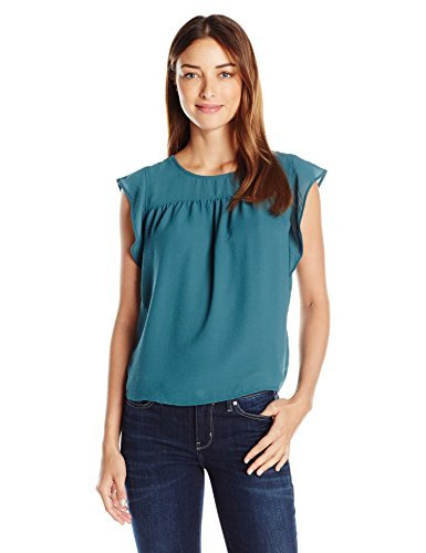 VERO MODA Damen VMMARION SL TOP A T-Shirt, Türkis (Balsam), 38 (Herstellergröße: M) (Kleidung Forever Frauen Für 21,)