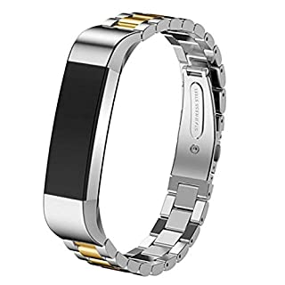 WISLECT Fitbit Alta Bands, Fitbit Alta HR Band Stainless Steel Metal Replacement Blingbling Strap for Fitbit Alta
