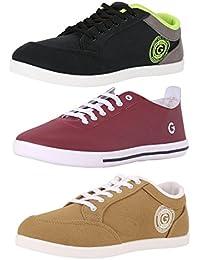 Globalite Men's Multi-color Combo of 3 Casual Sneaker GSC0337_1240_433