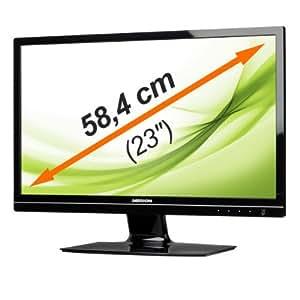 """MEDION AKOYA X55000 (MD 20144) 58,4cm (23"""") Widescreen LCD-Monitor Full HD Auflösung 1920 x 1080 Pixel, HDMI, Dynamischer Kontrast von 5.000.000:1, Reaktionszeit 2 ms, DVI-D Eingang und HDMI-Eingang, mehrsprachige Menüführung (OSD)"""