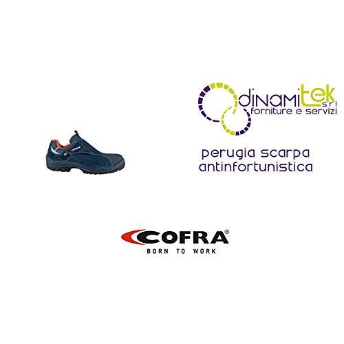 Cofra 63710-000.W44 S3 SRC taglia 44'Perugia' Safety-Scarpe da ginnastica colore blu