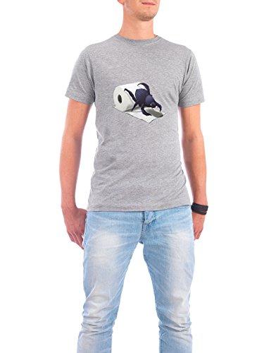 """Design T-Shirt Männer Continental Cotton """"Shit Happens! (wordless)"""" - stylisches Shirt Tiere Natur von Rob Snow Grau"""