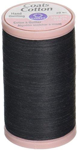 Coats & Clark Hand Quilting Baumwolle Gewinde, 350-yard, schwarz (Thread Baumwoll-350)