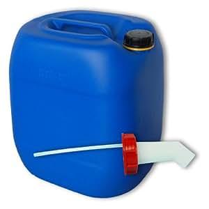 Bidon – Jerrican 30 L, bleu, avec bec verseur rigide DIN 61 (22027-22019)