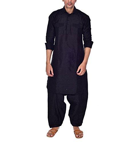 Royal Kurta Men's Silk Blend Festive Pathani Suit