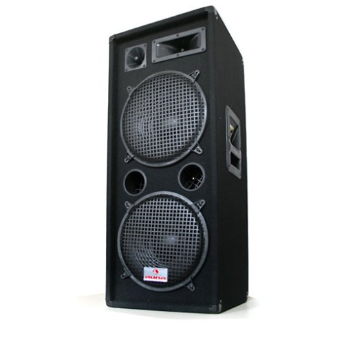 Malone-PW-2222-Enceinte-de-sono-professionnelle-pour-sonorisation-devenements-DJ-PA-500W-RMS-3-voies-Subwoofer-2x-30cm12-pouces-montage-sur-pied-noir