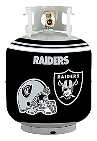 NFL Oakland Raiders Propane Tank Cover/5 Gal. Water Cooler Cover, Black