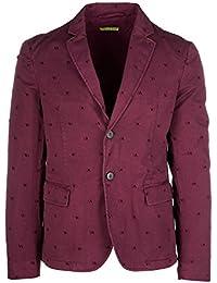 Versace Jeans cazadoras hombres americana chaqueta nuevo informal slim bordeaux