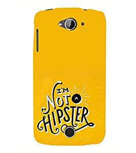 FUSON I Am Not Hipster 3D Hard Polycarbonate Designer Back Case Cover for Acer Liquid Z530 :: Acer Liquid Zade Z530S