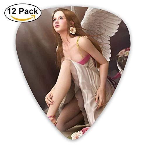 Parts Personalized Angel Wine Girl Jazz Electric Guitar Picks 12 Packs (Picks R5)
