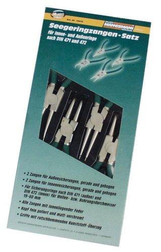 Preisvergleich Produktbild Mannesmann Montagezangen-Satz, 4-tlg. im Koffer, M10471