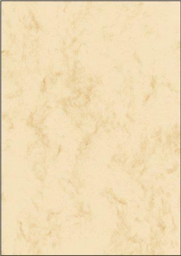 Sigel DP181 Marmor-Papier beige, A4, 25 Blatt, Motiv beidseitig, 90 g - weitere Farben