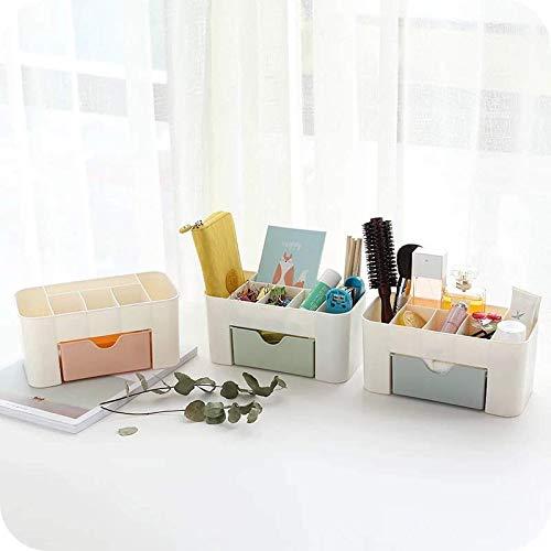 DIPOLA Cosmetic Make Up Organizer Desktop-Aufbewahrung, Schreibtischaufbewahrung für Bürobedarf und Toilettenartikel, Make-up-Aufbewahrungshalter für die Arbeitsplatte der Badezimmerkommode (Grün)