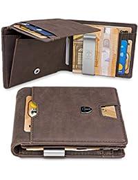 TRAVANDO ® Geldbeutel mit Geldklammer Cairo - 10 Kartenfächer - TÜV geprüft - Slim Design - RFID Schutz - Großes Münzfach - Das Original - inklusive Geschenk Box - Designed in Germany