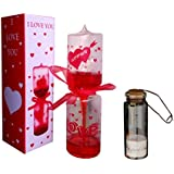 ATORAKUSHON Glass Romantic Heart Meter Hand Boiler Love Tester with Filling Pearls Designs Message Bottles Gift Box
