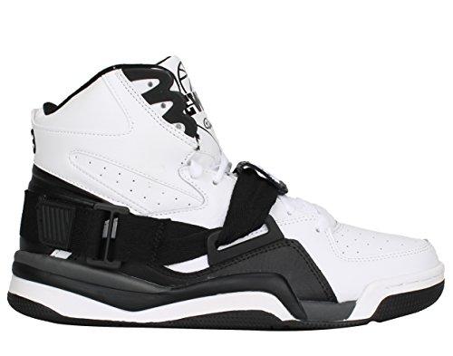 Patrick Ewing Mens Ewing Concept Hi Leather Trainers Blanc Noir