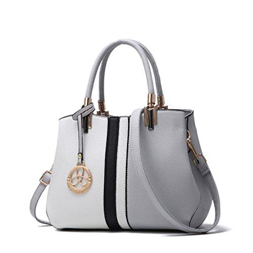CLOTHES- L'Europa e le borse del sacchetto delle signore di modo di modo degli Stati Uniti La borsa del messaggero della spalla di modo di personalità selvaggia ha colpito il sacchetto di colore del s Grigio