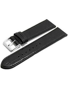 Meyhofer Uhrenarmband XS Jacksonville 18mm schwarz Leder Alligator-Prägung Made in Germany MyGfklb1508