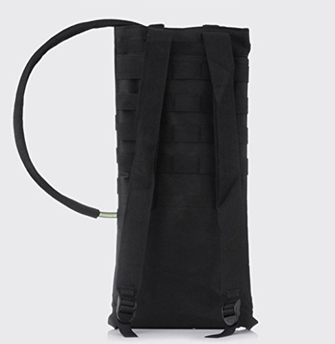 , 2,5l Wasser Tasche Rucksack ooutdoor Bergsteigen Wandern Radfahren Hydration Pack Blase Bag Camping Passt Camelbak schwarz - schwarz