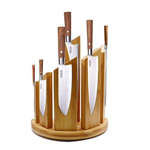 KüChe Doppelseitiger Magnetischer Messerblock Aus Holz FüR 12 Messer,BambooWood