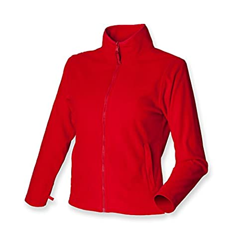Henbury ladies micro fleece jacket classic red