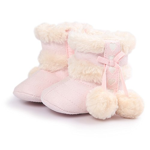 Baby Girl Winter Fur Snow Boots Toddler Shoes With Bowknot