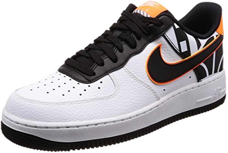 Nike Schuhe  Air Force 1 '07 Lv8 weissszlig/Schwarz/Orange Größe: 44.5