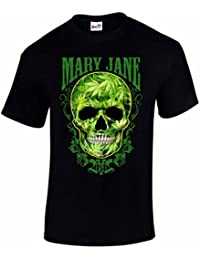 T-Shirt Homme Blunts N B*tches Mary Jane Weed Crâne