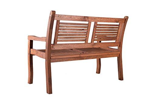 Gartenbank Eukalyptus 2 Sitzer Holzbank - 3