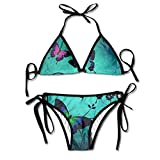 Women's Thong Bikini Suit Swimsuit Fatansy Butterfly Sexy Bikini Set 2 Piece