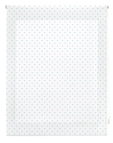 Blindecor Estor Enrollable, Tela, MOTAS Turquesa, 160 x 180 cm