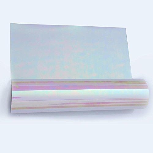 Hoho holographique arc-en-ciel thermocollant en vinyle de transfert de chaleur de coupe film pour T-shirt Vêtements 50,8x 30,5cm