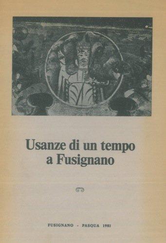 Usanze di un tempo a Fusignano.