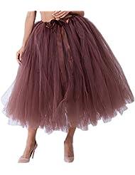 eceecbcbd Amazon.es: falda tutu mujer - Marrón: Deportes y aire libre
