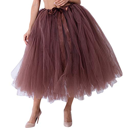 POPLY Damen Carnival Slim Style Frauen Mesh Tüll Tutu Rock Brautjungfer Prinzessin Rock Bubble Mutterschaft Rock Dirndl Masquerade Stil Samba-Kleid