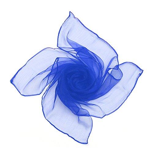 Sheer Chiffon Platz Schal in den Farben - im Stil der 50er von Boolavard (Royal Blue)