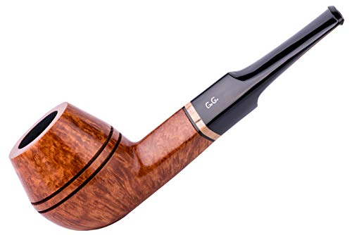 Watson&G.G. - BRIAR Tobacco Smoking pipe - Bulldog - Hand Made (metal cooling filter) + Branded Pouch (Special edition for Watson) (Gold) by Watson&G.G.
