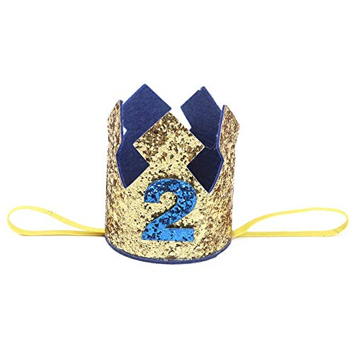 QueenHome Geburtstagsfeier-Krone Sparkly mit Prinz King Party Crown Hut Kuchen Smash Foto Prop für 1. Geburtstag 2 Nd Geburtstag 3 Rd Geburtstag für Geburtstagsfeier Baby Shower Foto Requisiten