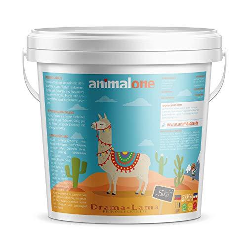 animalone - PFERDELECKERLIS Drama-LAMA - 5 KG Eimer mit Apfel, Banane & Erdbeere - das gesunde Leckerli für Ponys, Pferde und Einhörner
