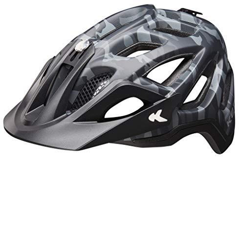 KED Trailon - MJ 2019 - Fahrradhelm Erwachsene Jugendliche - Camouflage Black anthr. Matt - 56-62 cm - 11403908036