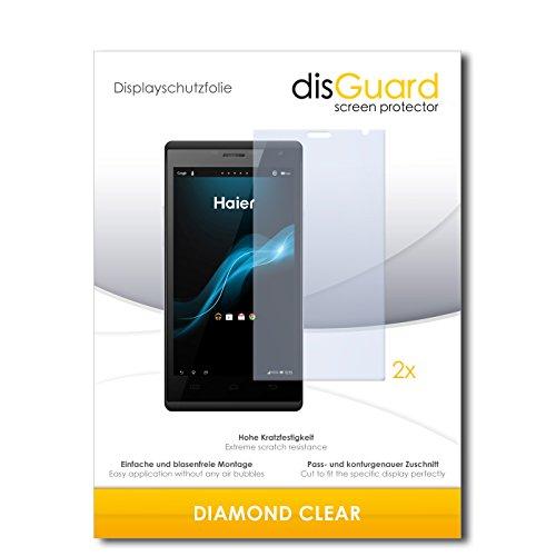 2 x disGuard® Bildschirmschutzfolie Haier Phone W858 Schutzfolie Folie