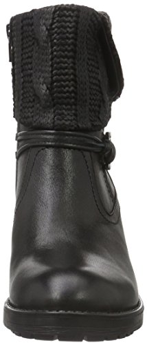 Be Natural Damen 25309 Biker Boots Schwarz (Black 001)